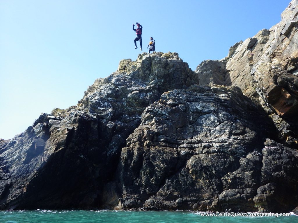 Jumping of a cliff, step out of your comfort zone